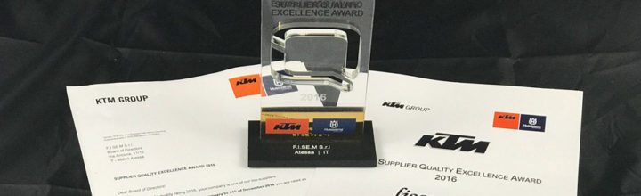 KTM Supplier Quality Excellence Award